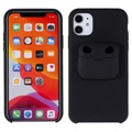 iPhone 11 Silicone Case with AirPods Pro Case - Black
