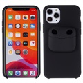 iPhone 11 Pro Max Silicone Case with AirPods Pro Case - Black