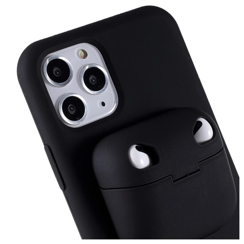 Iphone 11 Pro Max Silicone Case With Airpods Pro Case Black
