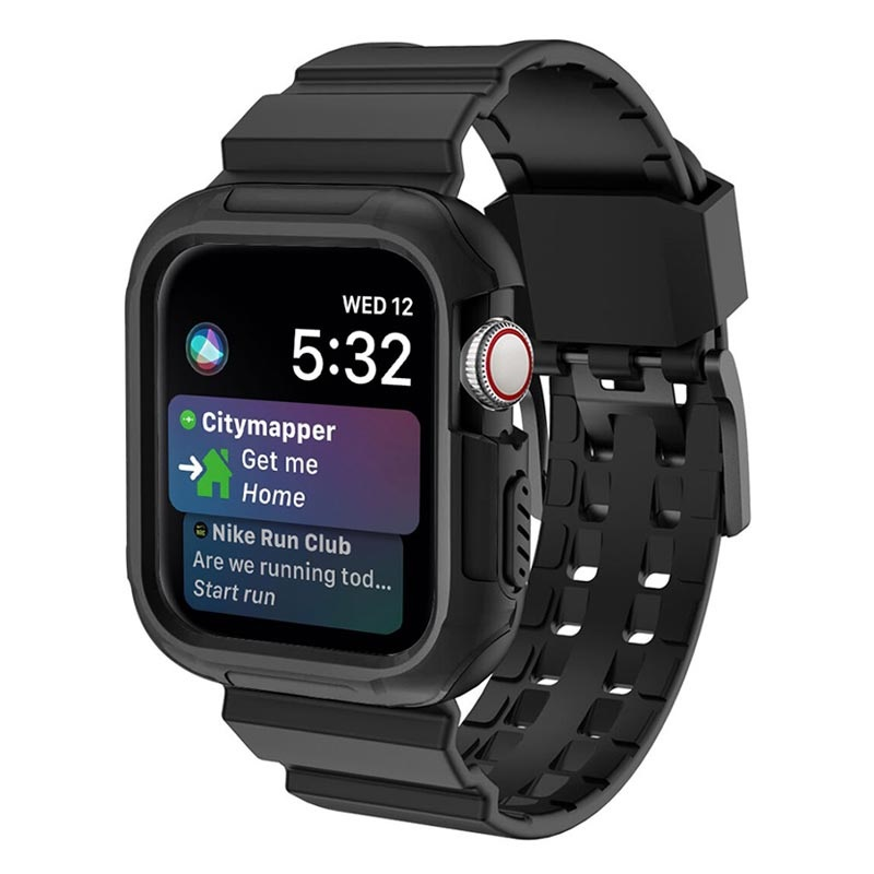 brand new ca2d8 231b0 Apple Watch Series 4 Silicone Sport Band and Case