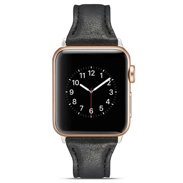 Apple Watch Series SE/6/5/4/3/2/1 Slim Leather Strap - 40mm, 38mm