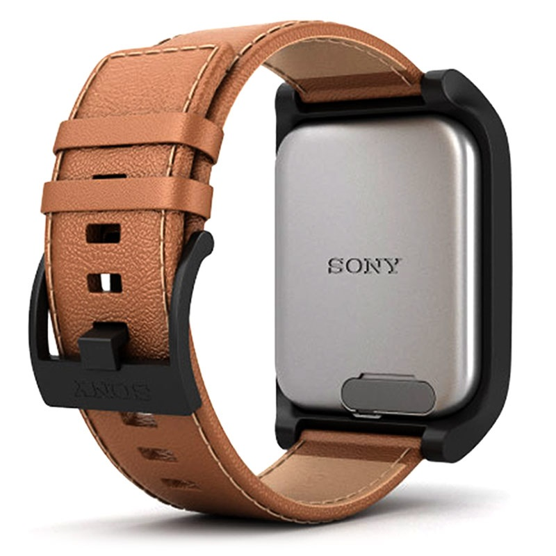 a sony smarwatch 3 swr50 brown leather mtp. Black Bedroom Furniture Sets. Home Design Ideas