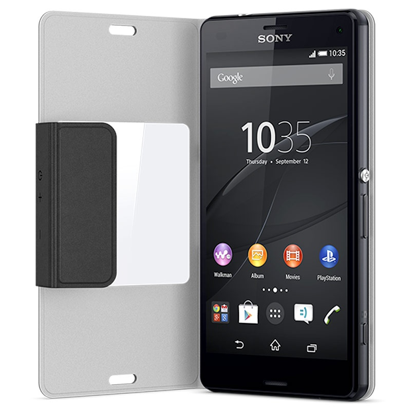 sony xperia z3 compact style cover scr26 black. Black Bedroom Furniture Sets. Home Design Ideas