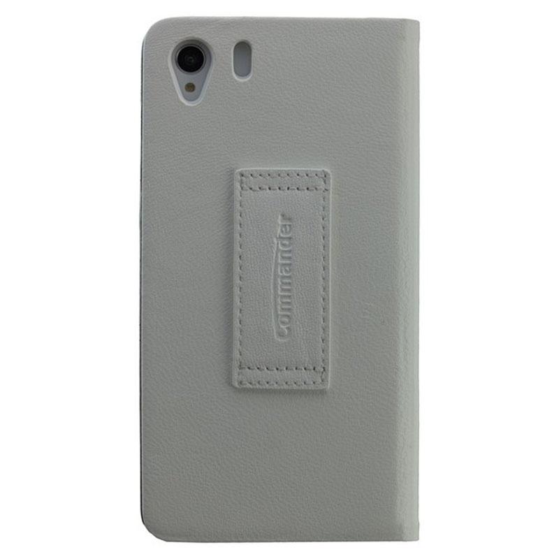 Sony Xperia Z1 Commander Smart Book Leather Case - White