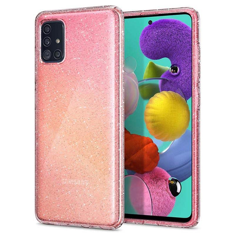 Spigen Liquid Crystal Glitter Samsung Galaxy A51 Case - Transparent