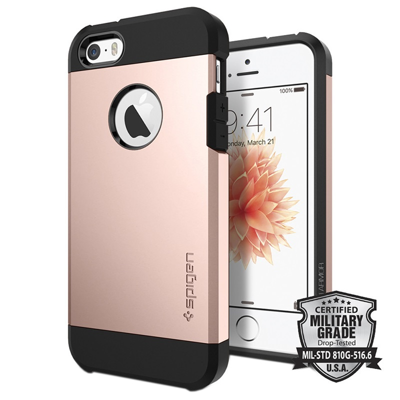 iphone 5 5s se spigen tough armor case rose gold. Black Bedroom Furniture Sets. Home Design Ideas