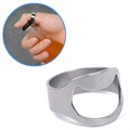 Stainless Steel Finger Ring Bottle Opener - Silver