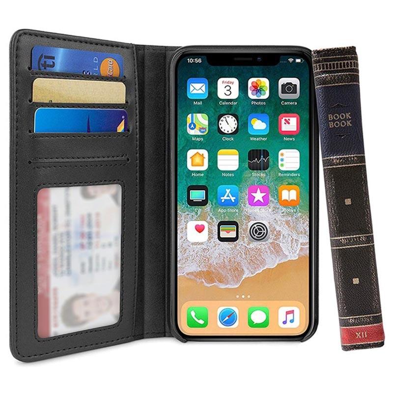 Twelve South Bookbook Iphone Xs Max Wallet Leather Case Black