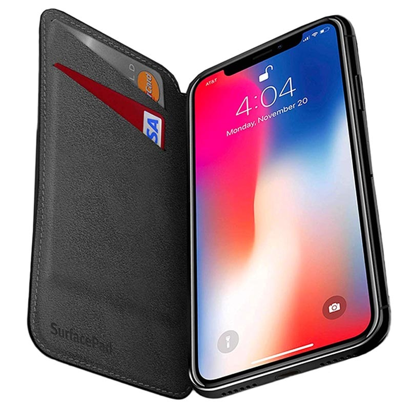 twelve south iphone xs max  Twelve South SurfacePad iPhone XS Max Flip Leather Case
