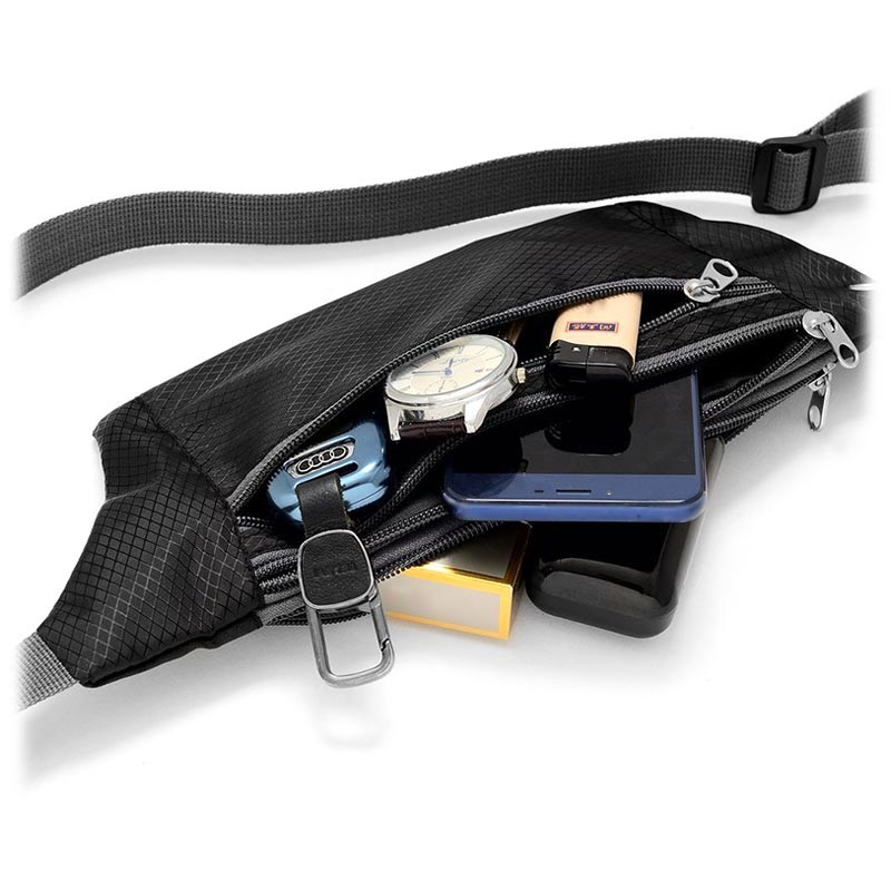 Ultimate Water Resistant Sports Belt with Triple Pocket