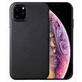 Ultra-Slim iPhone 11 Pro TPU Case - Carbon Fiber - Black