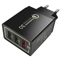 Universal 3-Port Fast USB Travel Charger with QC3.0 - 18W