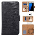 "Universal 360-degree Rotating Wallet Case 5.3"" - Crocodile Black"