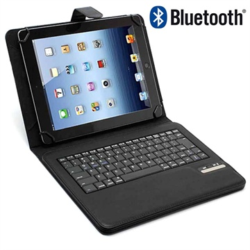 "Universal Tablet Bluetooth Keyboard & Leather Case 9""-10.1"" - Black"