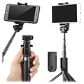 Universal 3-in-1 Bluetooth Selfie Stick & Tripod - Black