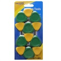 Universal Guitar Pick Opening Tool Set - Green & Yellow