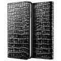 iPhone 6 Plus / 6S Plus VRS Design Croco Diary Wallet Leather Case - Dark Silver