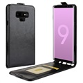Samsung Galaxy Note9 Vertical Flip Case with Card Slot - Black