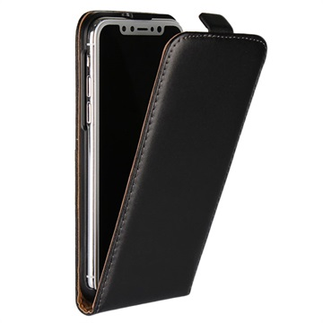 iphone x vertical flip case black