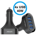 Vinsic VSCC401 Universal 4-USB Car Charger - Black