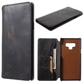Vintage Samsung Galaxy Note9 Wallet Leather Case - Black