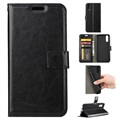 Huawei P20 Wallet Case with Magnetic Closure - Black