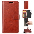 Huawei P20 Wallet Case with Magnetic Closure - Brown