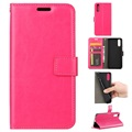Huawei P20 Wallet Case with Magnetic Closure - Hot Pink