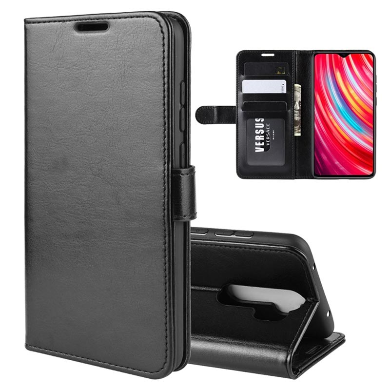 Xiaomi Redmi Note 8 Pro Wallet Case With Magnetic Closure Black