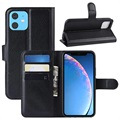 iPhone 11 Wallet Case with Magnetic Closure - Black