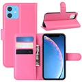 iPhone 11 Wallet Case with Magnetic Closure - Hot Pink