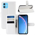 iPhone 11 Wallet Case with Magnetic Closure - White