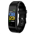 Water Resistant Activity Tracker with Heart Rate ID115 Plus - Black