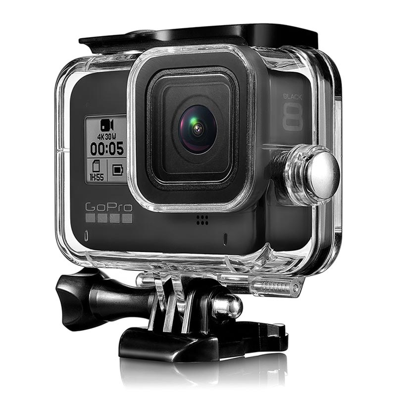 GoPro Hero 8 Black Waterproof Case with Lens Filter - Clear