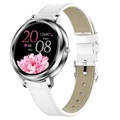 Women's Elegant Smartwatch with Heart Rate MK20 - Silver
