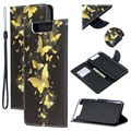 Wonder Series Samsung Galaxy A80 Wallet Case - Gold Butterfly