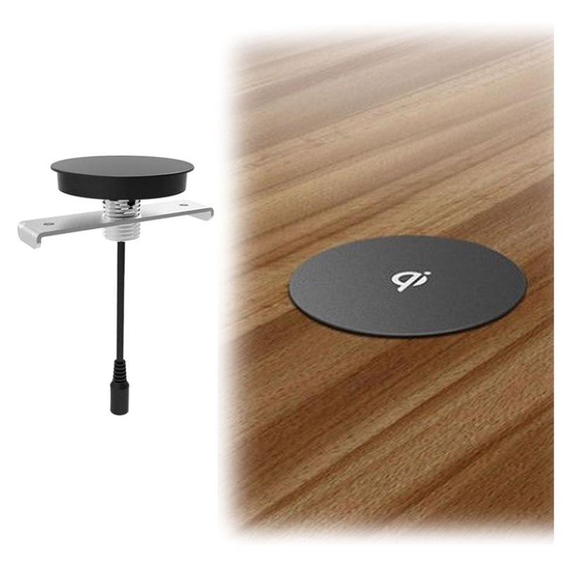 Zens Built In Qi Wireless Charger Black