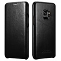 iCarer Curved Edge Vintage Samsung Galaxy S9 Flip Leather Case