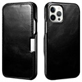 iCarer Vintage Series iPhone 12/12 Pro Flip Leather Case