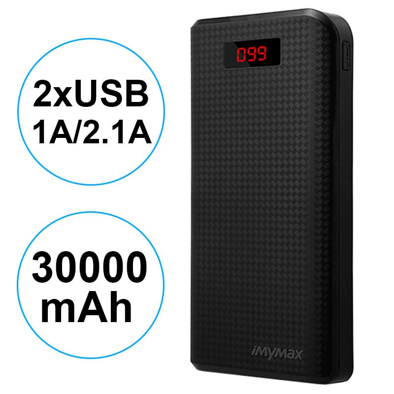 iMyMax Carbon MM-PB/006 2xUSB Power Bank - 30000mAh