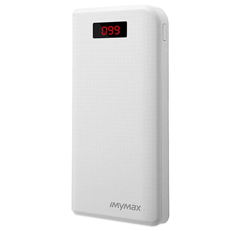 iMyMax Carbon MM-PB/006 2xUSB Power Bank - 30000mAh - White