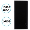 iMyMax X10 Slim Power Bank - 10000mAh - 2 x USB - Black
