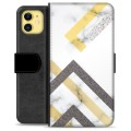 iPhone 11 Premium Wallet Case - Abstract Marble