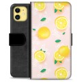 iPhone 11 Premium Wallet Case - Lemon Pattern