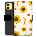 iPhone 11 Premium Wallet Case - Sunflower