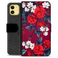 iPhone 11 Premium Wallet Case - Vintage Flowers