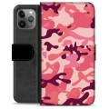 iPhone 11 Pro Max Premium Wallet Case - Pink Camouflage