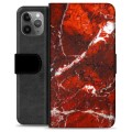 iPhone 11 Pro Max Premium Wallet Case - Red Marble
