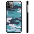 iPhone 11 Pro Max Protective Cover - Blue Camouflage