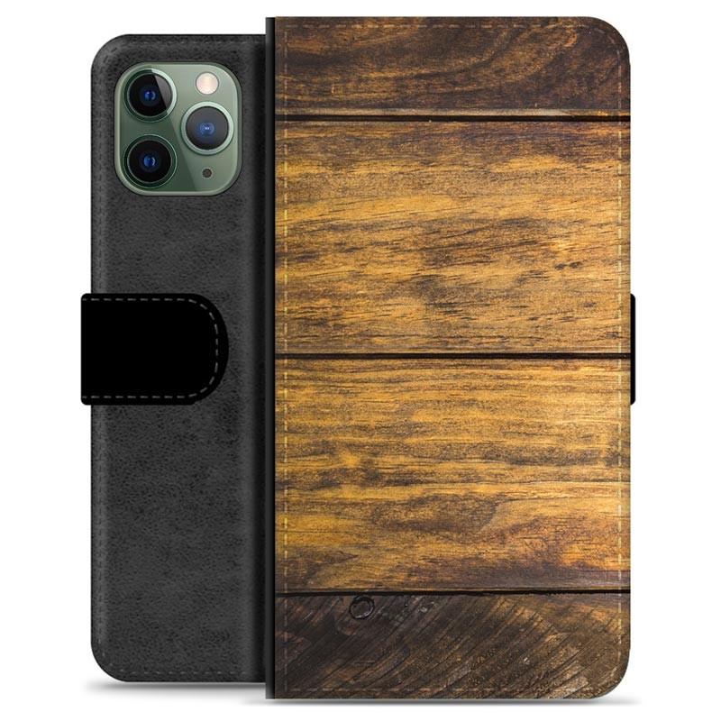 iPhone 11 Pro Premium Wallet Case Wood
